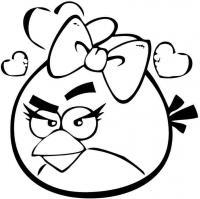 Angry birds злые птички, птичка в бантике, сердечки Раскраски для детей мальчиков