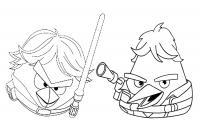Angry birds злые птички, сезон звездных воинов Раскраски для детей мальчиков