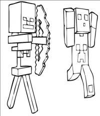Майнкрафт стрельба из лука Скачать раскраски для мальчиков