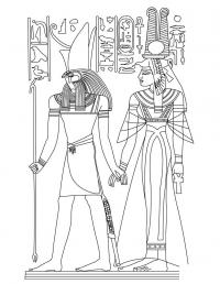 Древний мир, письменность египта, боги, божества Раскраски для мальчиков