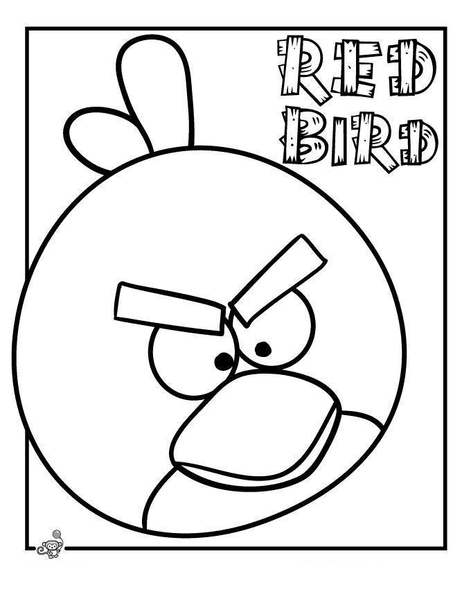 Angry birds злые птички, красная птичка Раскраски для детей мальчиков