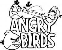 Злые птички Раскраски для детей мальчиков