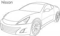 Суперкары гоночные авто, ниссан Раскраски для мальчиков бесплатно