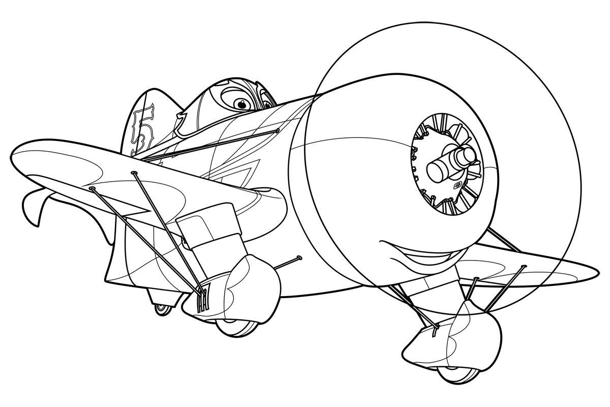 Самолеты дисней, полет, самолет с пропеллером на носу Раскраски для мальчиков