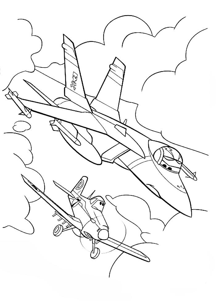 Самолеты дисней, полет в воздухе Раскраски для мальчиков