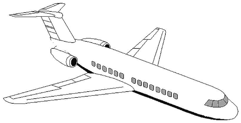 Пассажирский самолет Раскраски для мальчиков бесплатно