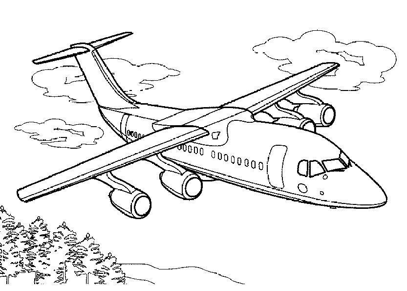Самолет Раскраски для мальчиков бесплатно