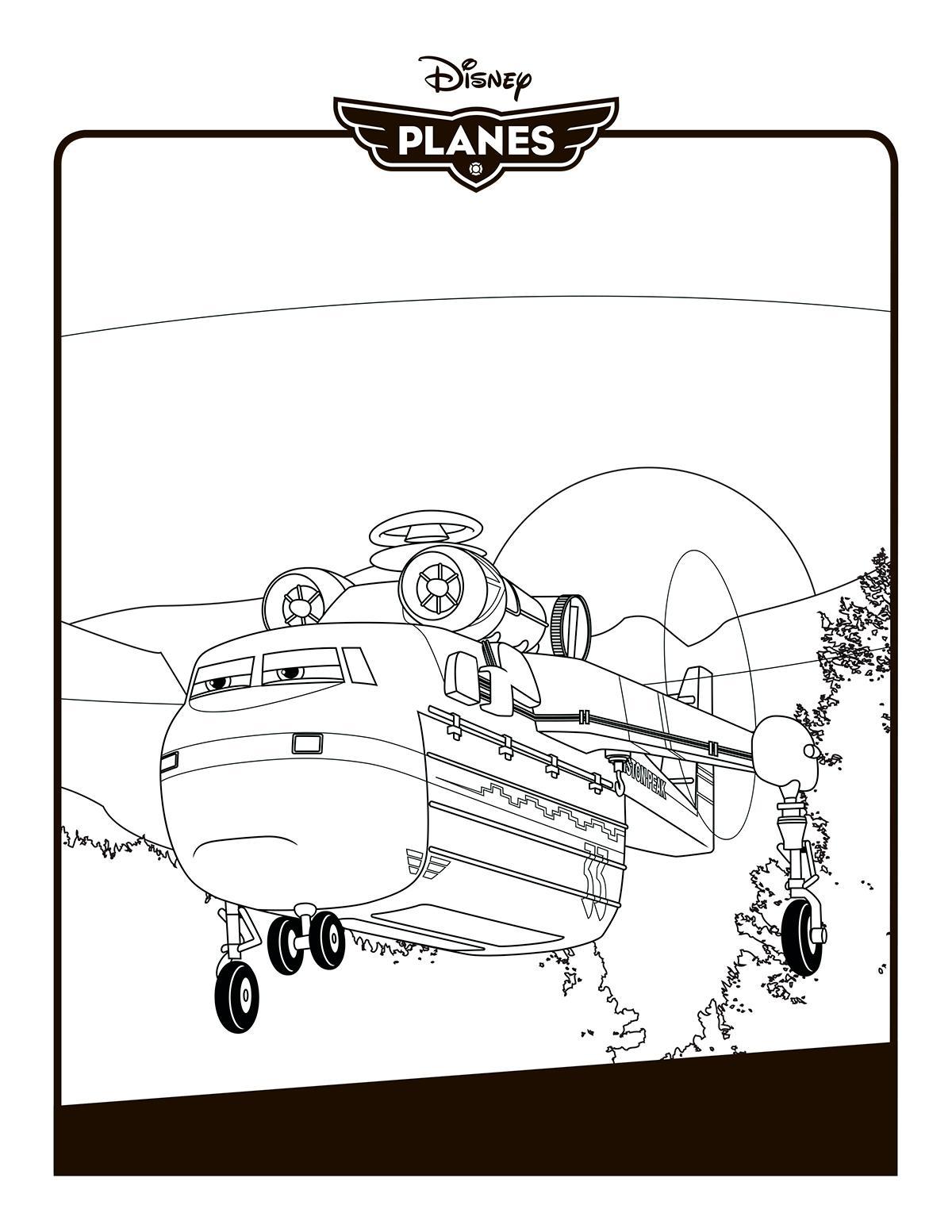 Самолеты дисней, вертолет для перевозки грузов Раскраски для мальчиков