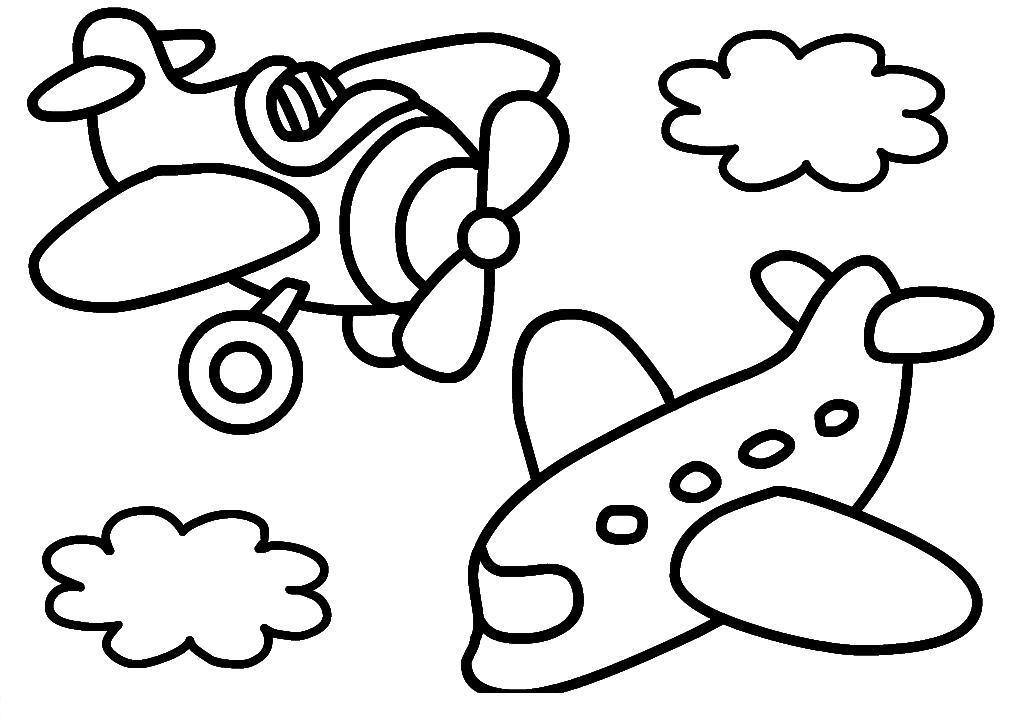 Самолеты в небе Раскраски для мальчиков