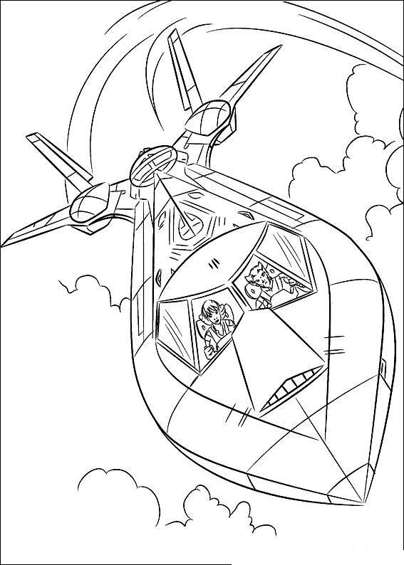 Самолет людей икс, шторм и росомаха Раскраски для мальчиков бесплатно
