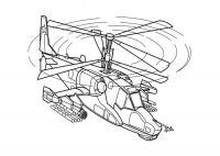 Противотанковый вертолет Раскраски для мальчиков бесплатно