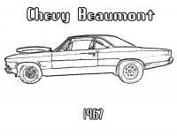 Суперкары гоночные авто, чеви биамонт 1967 Раскраски для мальчиков бесплатно