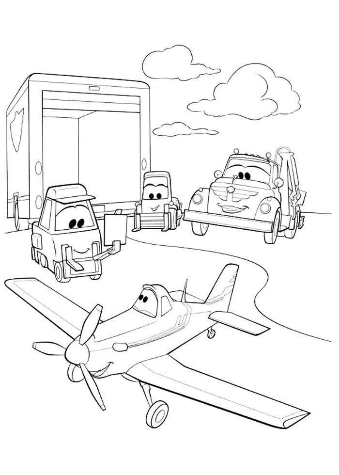 Самолеты дисней, по прибытию в город Раскраски для мальчиков