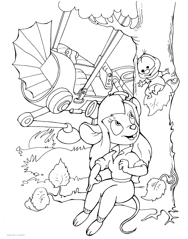 Мышка с букашкой и крушение самолета Раскраски для мальчиков бесплатно