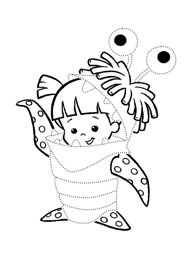 Корпорация монстров, ребенок в костюме монстра Раскраски для мальчиков