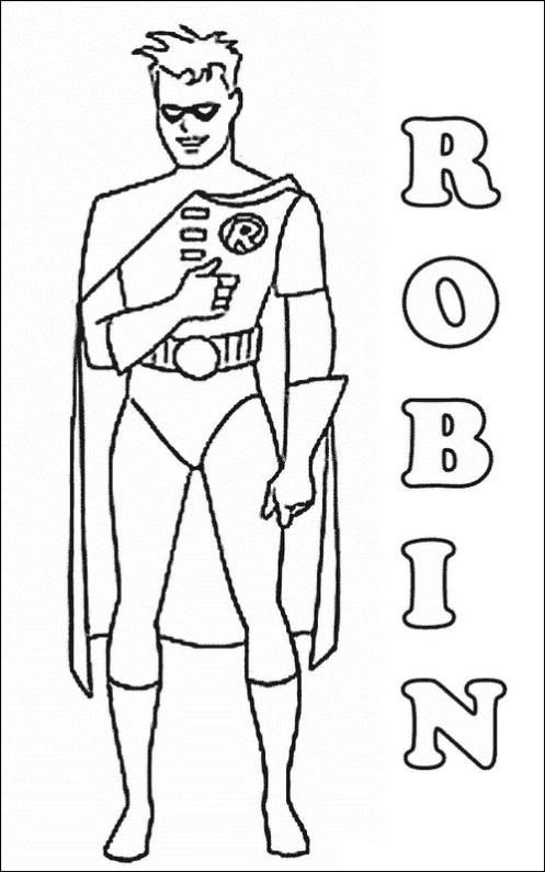 Робин Распечатать раскраски для мальчиков