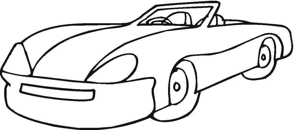 Суперкары гоночные авто, машина без крыши Раскраски для мальчиков бесплатно