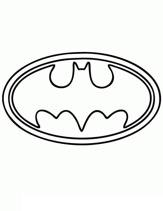 Бэтмен эмблема Раскраски для детей мальчиков