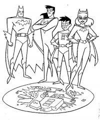 Бэтмен, робин, бетгел Раскраски для детей мальчиков