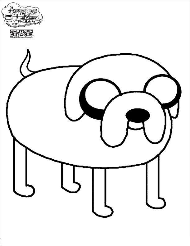 Время приключений, собака Раскраски для мальчиков бесплатно