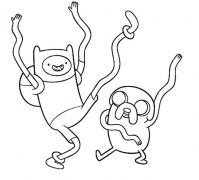 Время приключений, танцы Раскраски для мальчиков бесплатно