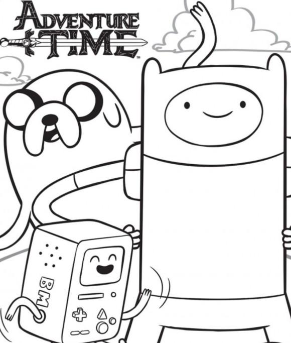 Время приключений Раскраски для мальчиков бесплатно