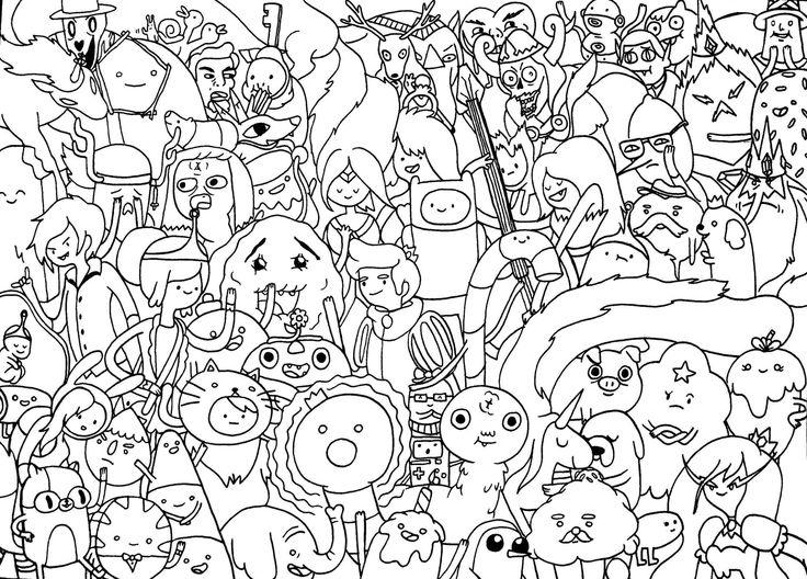 Мир из мультфильма время приключений Раскраски для мальчиков бесплатно