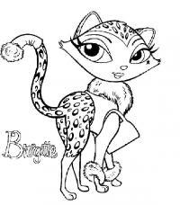 Леопард с сумочкой из мультфильмов Распечатать раскраски для мальчиков