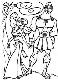 Парень с девушкой из мультфильмов Распечатать раскраски для мальчиков