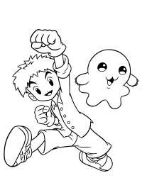 Мальчик и приведение из мультфильмов Распечатать раскраски для мальчиков